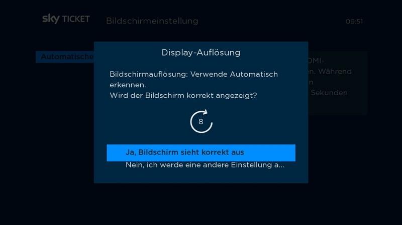 TV Stick Auflösung einstellen